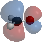 A molecular orbital of formaldehyde