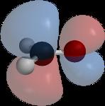 A molecular orbital of formaldehyde