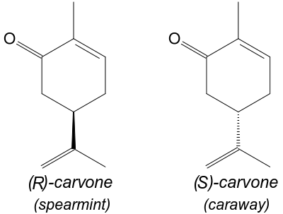 Enantiomers of carvone