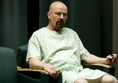 Walt in the hospital - in control, or so he thinks.