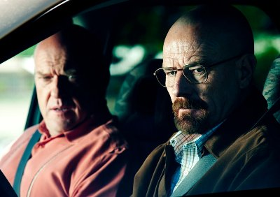 Walt and Hank on a highly ill-advised stakeout.